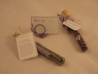 Wedding tubes favors