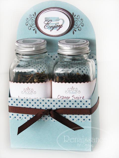 Tea set jars
