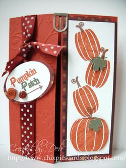 Double fold pumpkin card
