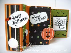 Folded card halloween