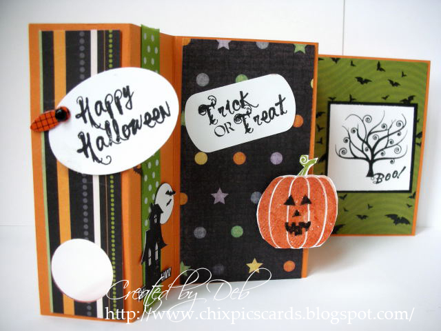Folded card halloween